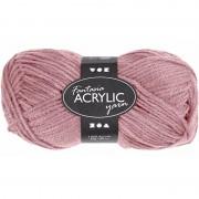Merkloos Oud roze acryl garen 80 meter