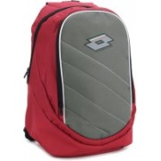Lotto Laptop Backpack(Grey, Red)