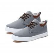 Lienzo zapatos casual hombres Calzado Footwears Lace-Up Low Cut Color sólido