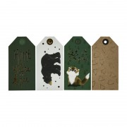 Xenos Cadealabels kerst - groen - set van 8