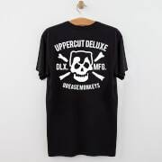 Uppercut Grease Monkey Lives T-Shirt - Black/White Print - S - Black/White