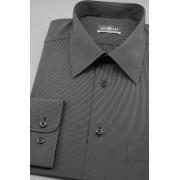 Pánská košile dlouhý rukáv Černá s bílým proužkem 511-2301-40/194