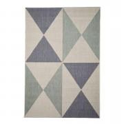 Floorita binnen/buitentapijt Geo - blauw/aqua - 160x230 cm - Leen Bakker