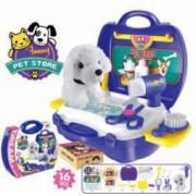 Set infrumusetare pentru copii Pet Shop pentru catei in valiza cu catel din plus + 16 accesorii
