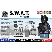SWAT Team Gear Pack in Black (15 Pieces) - LEGO Compatible Minifigure Pieces