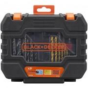 Black & Decker Juego de 31 piezas para atornillar y taladrar A7233 Black + Decker