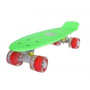 Sportmann Penny board Mad Cruiser cu roti LED ABEC 7-verde