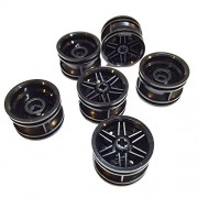 Lego Parts: Wheel Rim 30.4mm x 20mm Reinforced with No Pin Holes (Service Pack of 6 - Black)