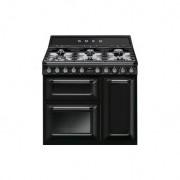 Cocina Victoria Smeg TR93BL negra encimera gas A