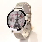 New brand women watch high quality Lady LOVE Eiffel Tower Round Quartz Analog Bracelet Wrist Watch orologi donna reloj mujer