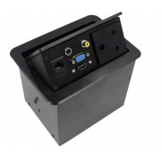Gas Popup Panel with 3pin SA Electrical Plug for HDMI, VGA, Audio, Composite & RJ45 Networking