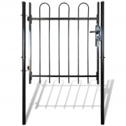 vidaXL Single Door Fence Gate with Hoop Top 100 x 150 cm