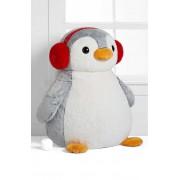 Giant 2 Feet Stuffed Penguin Plush Animal Soft Toy wearing Headphones