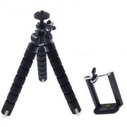 SUREELEE FLEXIBLE SPONGE HIGH-QUALITY STRONG AND DURABLE TRIPOD (BLACK)