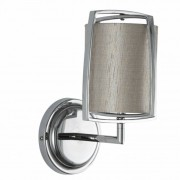 Pacific Grey Cylinder Shade with Metal Frame Wall Light