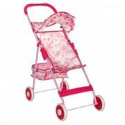 Carucior de jucarie roz bebe papusa