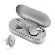 Wireless Bluetooth 5.0 Earphone Headset with Mini Charging Box for iPhone Samsung Huawei Sony - White