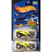 Hot Wheels 2002 Shock Factor 121 NEON Green WHEEL VARIATIONS