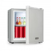 Klarstein Secret Cool, мини хладилник, минибар, 13l, клас А+, 0 dB, сребърен (HEA-BCH-17B Silver)