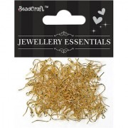Jewellery Findings ear wire hooks 50 gm - Gold