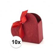 Geen Bruiloft bedankjes doosjes rood hart 10x