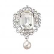 FA シャルマン ブローチ スワロフスキークリスタル使用【QVC】40代・50代レディースファッション