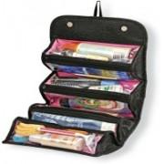 Roll N Go 4 In 1 Travel Buddy Cosmetic Shaving Toiletry Bag Travel Toiletry Kit Travel Toiletry Kit(Black)