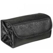 Elegantshopping Roll-N-Go Cosmetics and Toiletries Bag Travel Toiletry Kit(Black)