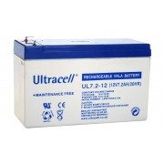Batteria al Piombo AGM Professionale UL7.2-12 Ultracell UK 12V DC 7.2AH 7,2AH