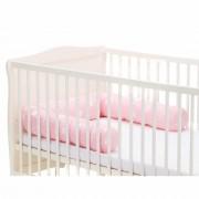 Protectie laterala pentru pat din lemn 190 cm crown pink Fillikid