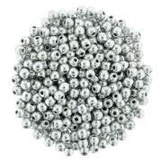 Tjeckiska Druk (Runda) - Silver 2mm, 50- pack