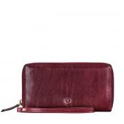 Maxwell-Scott weinrote Damen Leder Clutch mit abnehmbarer Schlaufe - Meleto