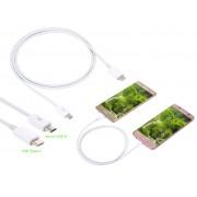 NTR CAB127WH USB C dugó - microUSB dugó adat- és töltő kábel 1m