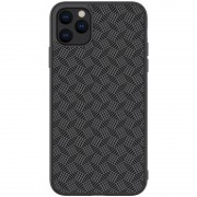 NILLKIN Synthetic Fiber Plaid Pattern PC TPU Hybrid Phone Cover for iPhone 11 Pro Max 6.5 inch (2019)