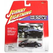 Johnny Lightning Modern Muscle Charcoal Grey Dodge Viper