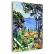 Paul Cézanne: Cézanne: Látkép (20x25 cm, Vászonkép )
