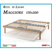 ErgoRelax Rete in Legno Maggiore con 26 Doghe di Faggio e Regolatori Rigidità 170x200