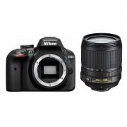 Nikon D3400 DSLR Zwart + 18-105mm VR