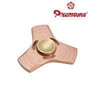 Premsons Fidget Spinner Metal Hand Spinner Triangular Head Ultra Speed Tri-Spinner Toy (Rose Gold)