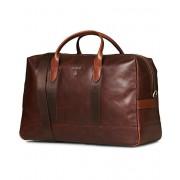 Morris Buckely Leather Weekendbag Chestnut Brown