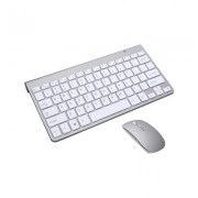 Tactus Compact Wireless Keyboard and Mouse - White