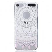 GadgetBay Mandala transparant hoesje patroon TPU case iPod Touch 5 6 7 - Wit Licht
