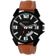 SAMEX MENS LATEST DESIGN WATCHES VALENTINE FLIPKART FASHION SALES DAYS STYLISH FASTRAC XENO GENUINE LEATHER LATEST FASHIONABLE DAY DATE DISCOUNTED Watch - For Men