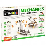 Engino Discovering Stem Mechanics Gears and Worm Drives Building Kit, Multi Color