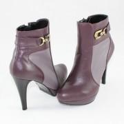 Botine piele naturala dama elegante - gri, violet, Nike Invest - G396-GreGri