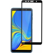 Folie de protectie Samsung Galaxy A7 2018 Folie sticla securizata 3D Negru FULL SCREEN Tempered Glass Antisoc Viceversa