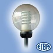 Dekoratív közterületi lámpa OLIMP G 1x70W nátrium d=350mm füst gömb búra IP44 Elba