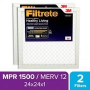 Filtrete MPR® 1500 Filtro de aire para muebles de CA con reducción de alérgenos, 24 x 24 x 1, 2 unidades