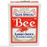 Bee Casino - Poker size Jumbo Index Red