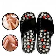 ACCU PADUKA/SLIPPER SPRING SLIPPER ACUPRESSURE MAGNETIC FULL BODY MASSAGE FOOT CARE YOGA PADUKA MASSAGER (Assorted Color)